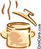 Vector Clip Art image  of a Boiling pot of soup