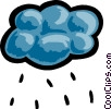 Rain clouds with rain Vector Clip Art graphic