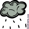 Vector Clipart image  of a Rain clouds with rain