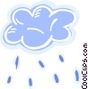 Vector Clipart graphic  of a Rain clouds with rain