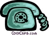 Vector Clipart graphic  of a Home telephone