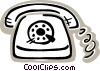 Vector Clip Art image  of a Home telephone