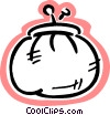 Vector Clipart image  of a Change purse