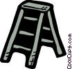 Vector Clip Art graphic  of a Step Ladder