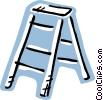 Vector Clip Art picture  of a Step Ladder