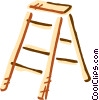 Step Ladder Vector Clipart graphic
