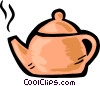 Boiling teapot Vector Clipart illustration