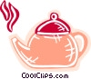 Vector Clip Art graphic  of a Boiling teapot