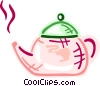 Vector Clipart graphic  of a Boiling teapot