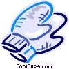 Vector Clipart image  of a Winter mitts