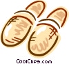 Warm slippers Vector Clipart picture