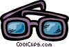 Vector Clipart graphic  of a Thick eyeglasses
