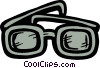 Thick eyeglasses Vector Clipart illustration