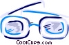 Vector Clip Art graphic  of a Thick eyeglasses