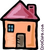Family home Vector Clip Art graphic