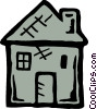 Vector Clip Art picture  of a Family home