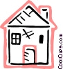 Vector Clipart graphic  of a Family home