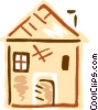 Family home Vector Clipart illustration