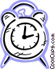 Vector Clipart image  of an Alarm clock