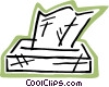 Facial tissue Vector Clipart picture