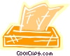 Vector Clipart graphic  of a Facial tissue