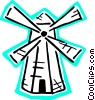 Vector Clip Art image  of a Dutch windmill