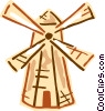 Vector Clip Art graphic  of a Dutch windmill