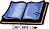 Vector Clip Art graphic  of a Opened book