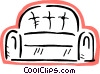 Comfortable sofa Vector Clipart illustration