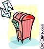 Mailbox with letters Vector Clipart graphic