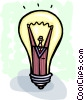 Idea Concepts man in idea light bulb Vector Clip Art image