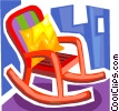 Rocking Chair Vector Clipart illustration