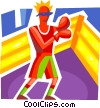 Boxers and Fighters Vector Clipart picture