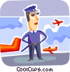 Security guard at the airport Vector Clipart picture