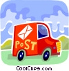 Courier Services Vector Clipart illustration