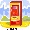 Public Pay Phones Vector Clipart graphic
