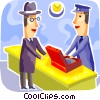 Passenger ordering tickets Vector Clip Art picture