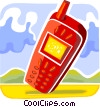Vector Clip Art picture  of a Cellular Wireless and Cordless