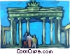 Brandenburg Gate Berlin Vector Clipart graphic
