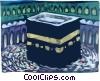 Hajj Ka 'bah Mecca Saudi Arabia Vector Clipart graphic