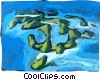 Tropical  Islands Vector Clipart picture