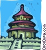 Peking Hall for Good Harvest Vector Clipart picture