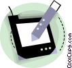 Graphics tablet Vector Clipart graphic