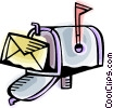 Vector Clip Art picture  of a Mailbox with letter