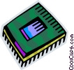 Chips and Processors Vector Clipart image