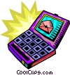 Notebook computer with e-mail Vector Clipart graphic
