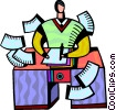 Vector Clip Art picture  of a Doing Paperwork