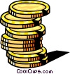 Stack of Coins Vector Clipart picture