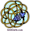 Vector Clip Art graphic  of a Wire and Cables