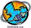Global Networks Vector Clipart illustration